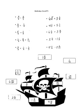 Battleship:  Adding/ Subtracting Fractions & Mixed Numbers