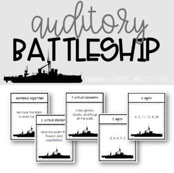 Auditory Battleship