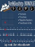 Battleship BUNDLE Games (decimals, fractions, negatives, coordinate grids)