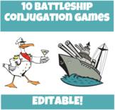 10 Battleship Conjugation Practice Games!