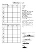 Battleship Coordinates Grid Reference Game