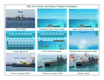 Battleship English PowerPoint Game Template-An Original by ESL Fun Games