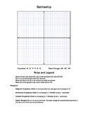 Battleship (For Teaching Coordinates on Cartesian Plane)