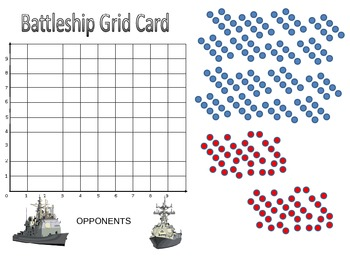 Battleship Game Coordinate Graphing Game