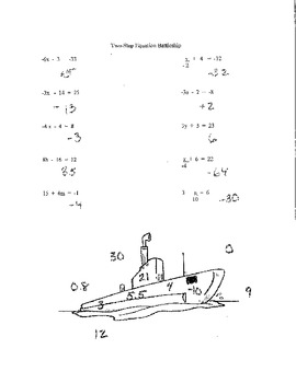 Battleship Game: Equations