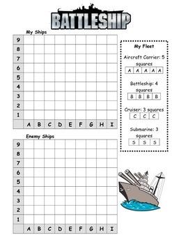 Battleship Game - Mathematics