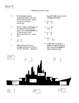 Battleship Game: Ratios and Proportions