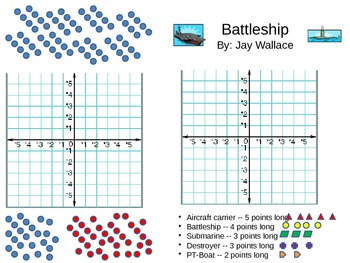 Battleship Game X Y Coordinate Plane By Wallace S Teach And Tech Tools