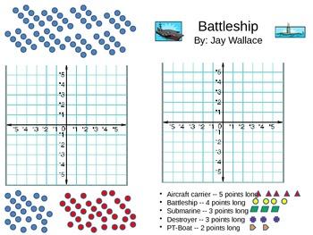 Battleship Game X/Y Coordinate Plane
