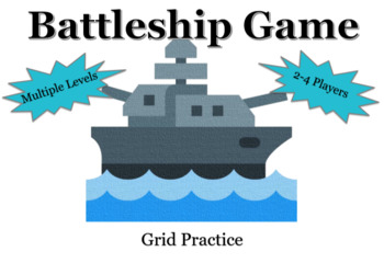Battleship Grid Practice Game - Multiple Levels and 2-4 Players