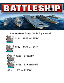 Battleship Latitude and Longitude