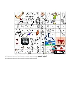 Battleship!  Medical vocabulary review/ Realidades 2 5b