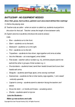 Battleship - No Equipment Needed