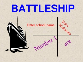 Battleship: Ordered pairs, Graphing in all four quadrants, Math PowerPoint