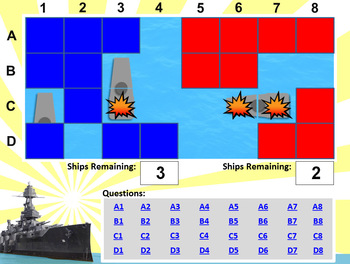 Battleship PowerPoint Template - Create Your Own Review Game