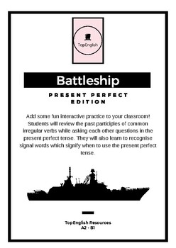 Battleship - Present Perfect Edition - ESL levels A2 - B1