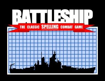 Battleship Spelling File Folder Game