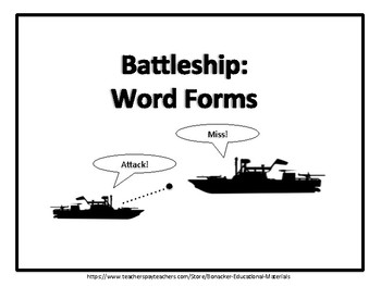 Battleship: Word Forms