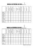 Battleship game: Weekly activities