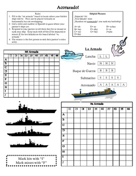 Battleship in Spanish