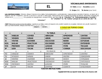 Battleship/El acorazado (Verb conjugation-any tense)