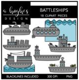 Battleships Clipart {A Hughes Design}
