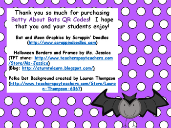 Batty About Bats QR Codes
