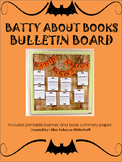 Batty About Books Fall Halloween Bulletin Board Reading Wr
