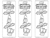 Batty About Books color-able bookmarks