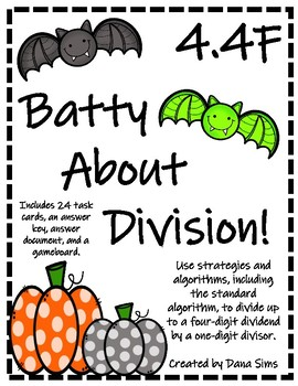 Batty About Division (TEKS 4.4F) STAAR Practice
