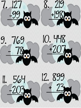 Regrouping Scoot Addition & Subtraction Regrouping