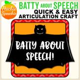 Batty About Speech - Articulation Bats! Craft for Speech Therapy