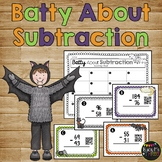 Batty About Subtraction 2 and 3 Digit With and Without Reg
