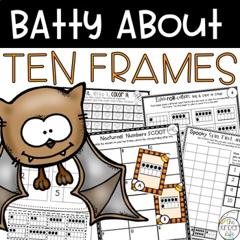 Bats Ten Frames SCOOT Task Cards Cut and Pastes Graphing and MORE