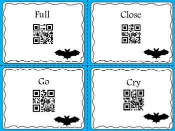 Batty Antonyms QR codes! No print! FREEBIE!!