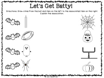Batty Associations: Mini-Book and Activities for Speech & Language