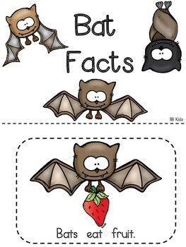 Batty Bat Facts - An Emergent Reader for Kindergarten and Writing page