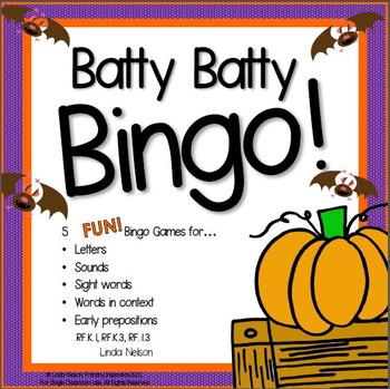 Halloween Bingo Letter, Sound, & Word Games