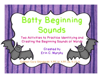 Batty Beginning Sounds, Two Activities to Practice Beginning Sounds
