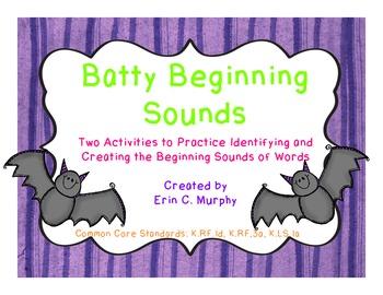 Batty Beginning Sounds, Two Activities to Practice Beginni