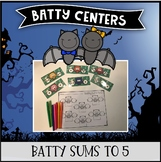 Batty Centers ~ Sums to 5