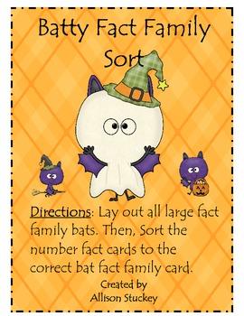 Batty Fact Family Sort