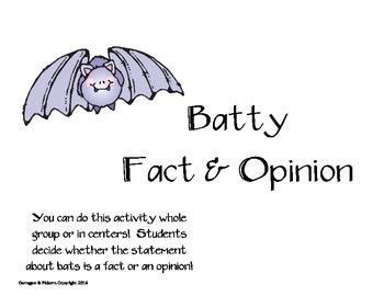 Batty Fact & Opinion