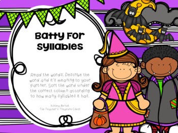 Batty For Literacy Centers