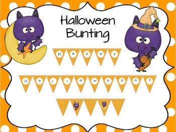 Batty Halloween Bunting