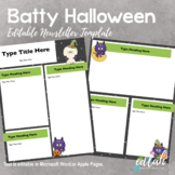 Batty Halloween Newsletter for WORD or PAGES_Generation 2