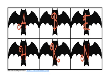 Bat Letter and Number Sort FREE
