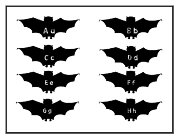 Batty Letters center and worksheet