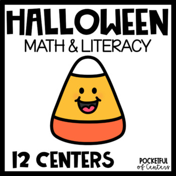 Halloween Math and Literacy Centers for Pre-K and Kindergarten {BUNDLE}