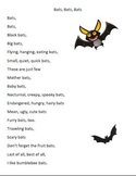 Batty Poems- Write a poem about bats using adjectives